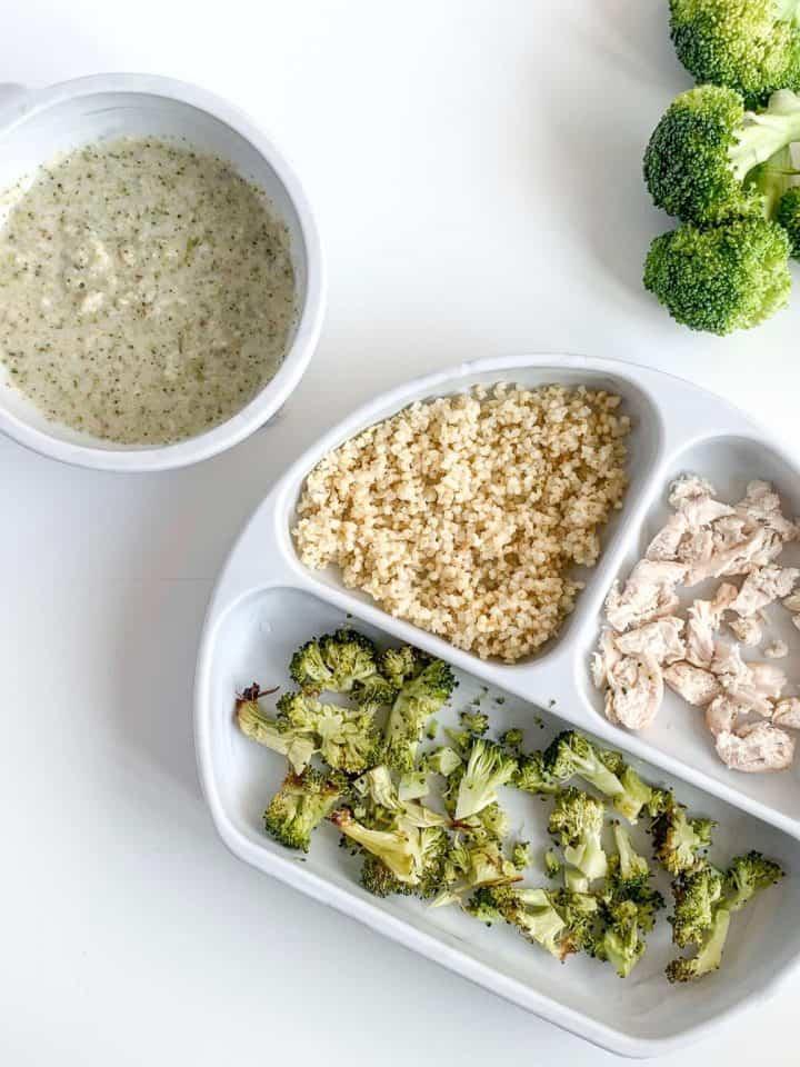 8 month old recipe Chicken Broccoli Millet