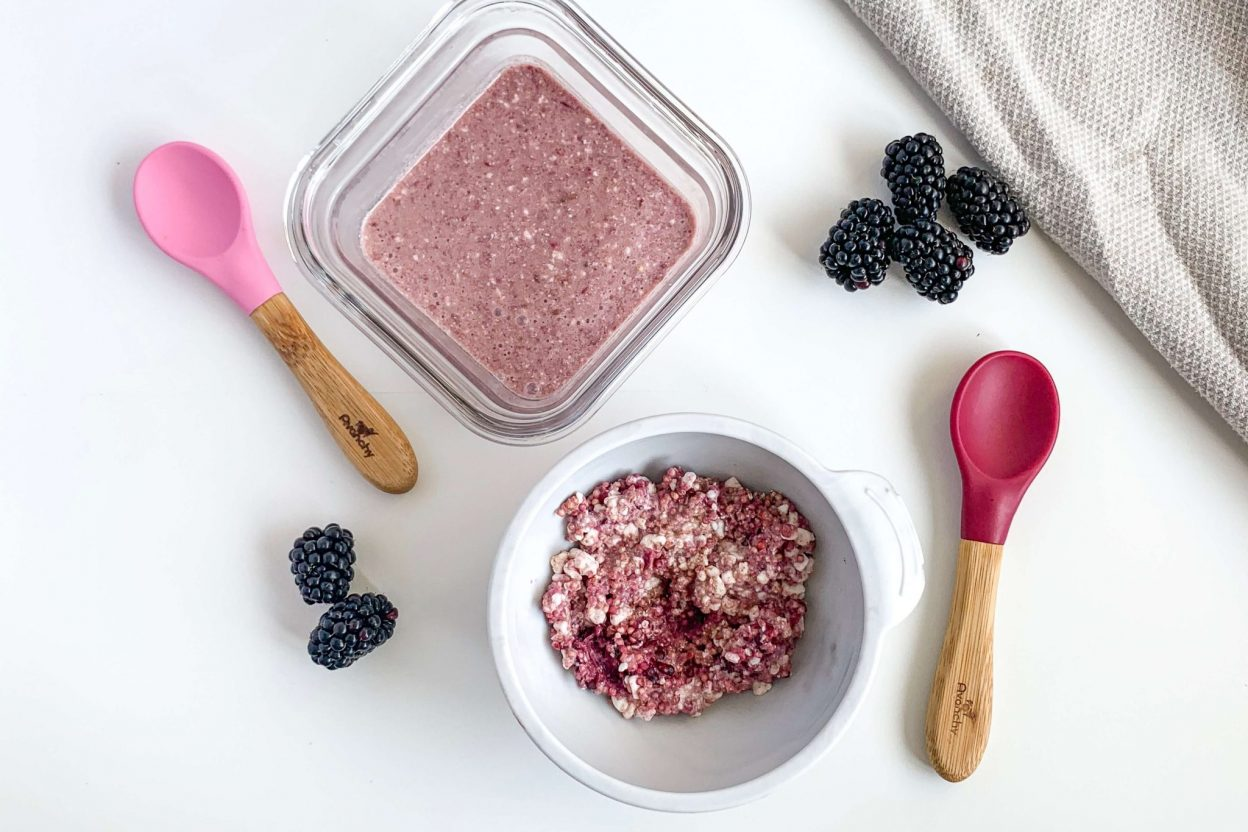 7 month old recipe Cottage Cheese Blackberry Millet