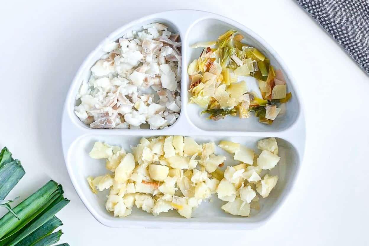 10 month old recipe potato leek cod