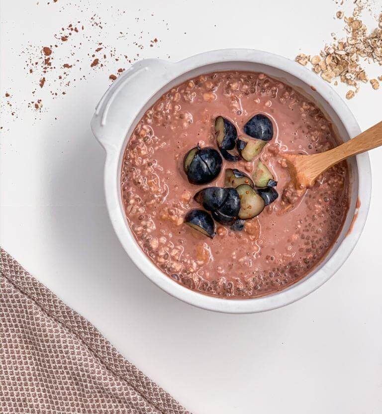 chia pudding overnight oats