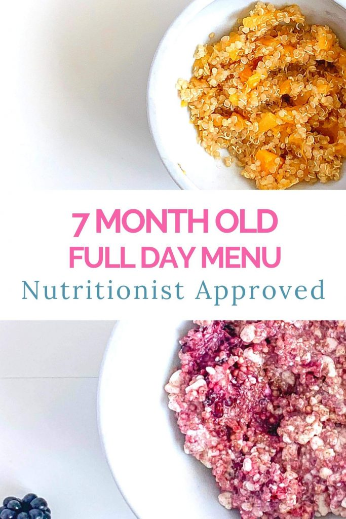 7 month old meal plans