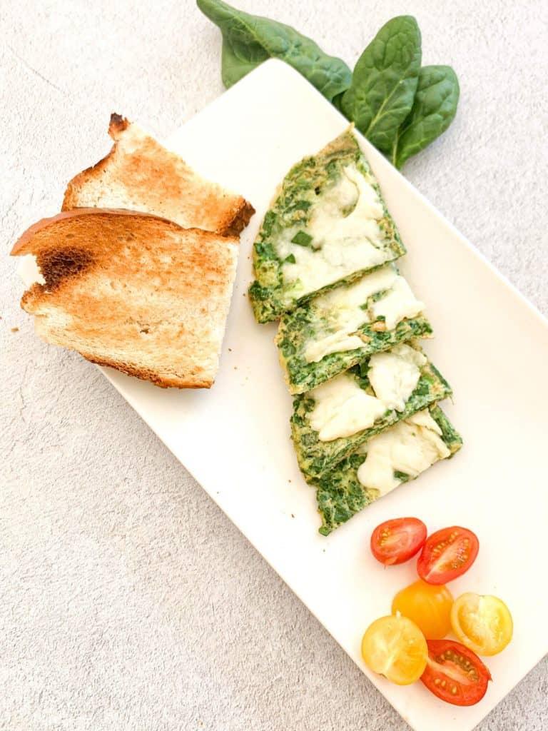 Toddler Snack Ideas Mozarella Spinach Omelette 17
