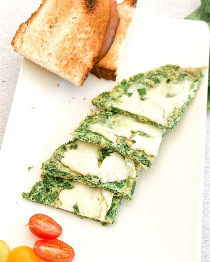 Mozarella Spinach Omelet