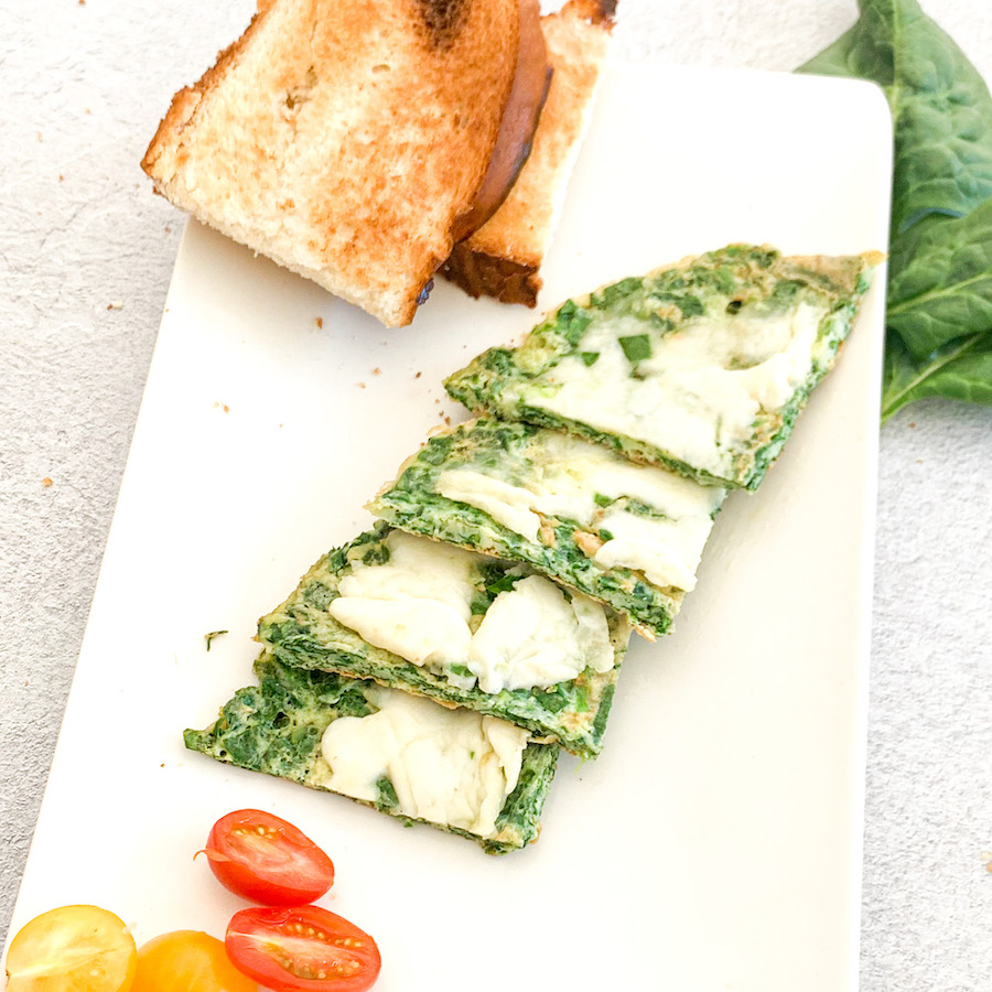 Mozarella Spinach Omelet
