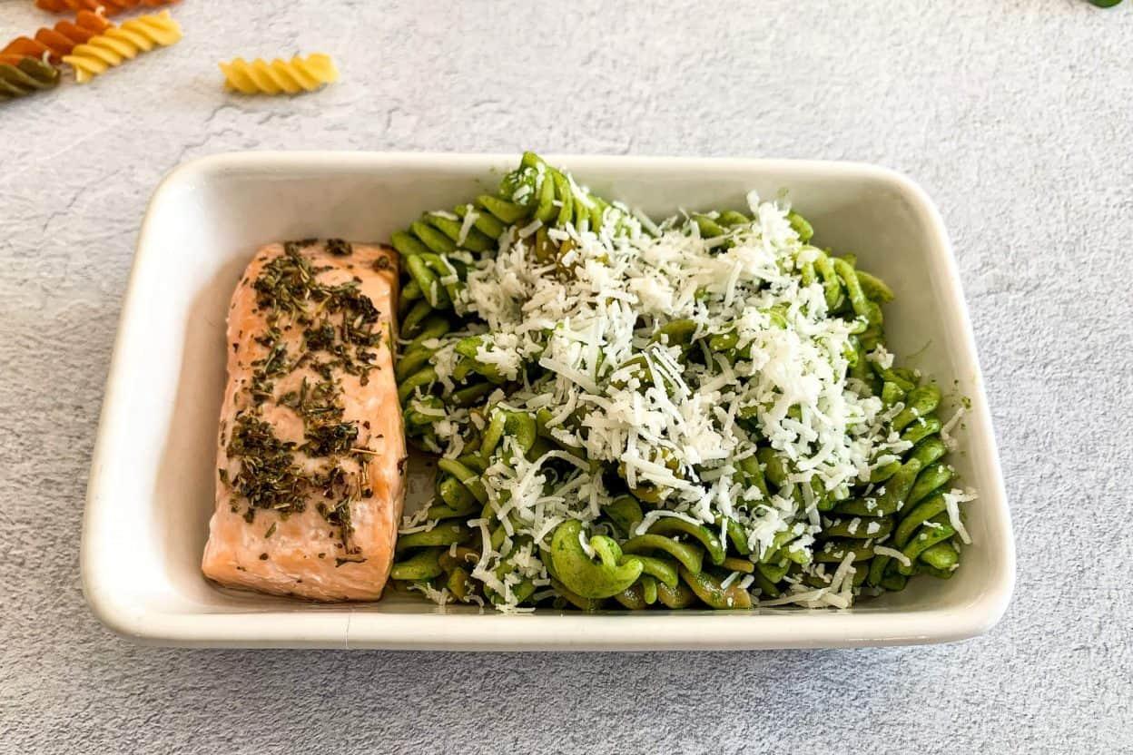 Salmon Spinach Pasta 1