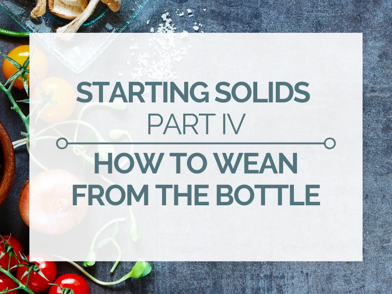 how to wean from the bottle