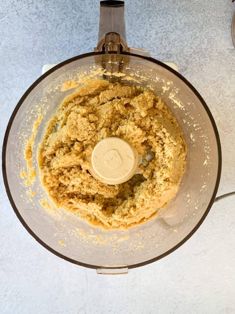 Sweet Paprika Homemade Hummus Recipe food processor blending chickpeas