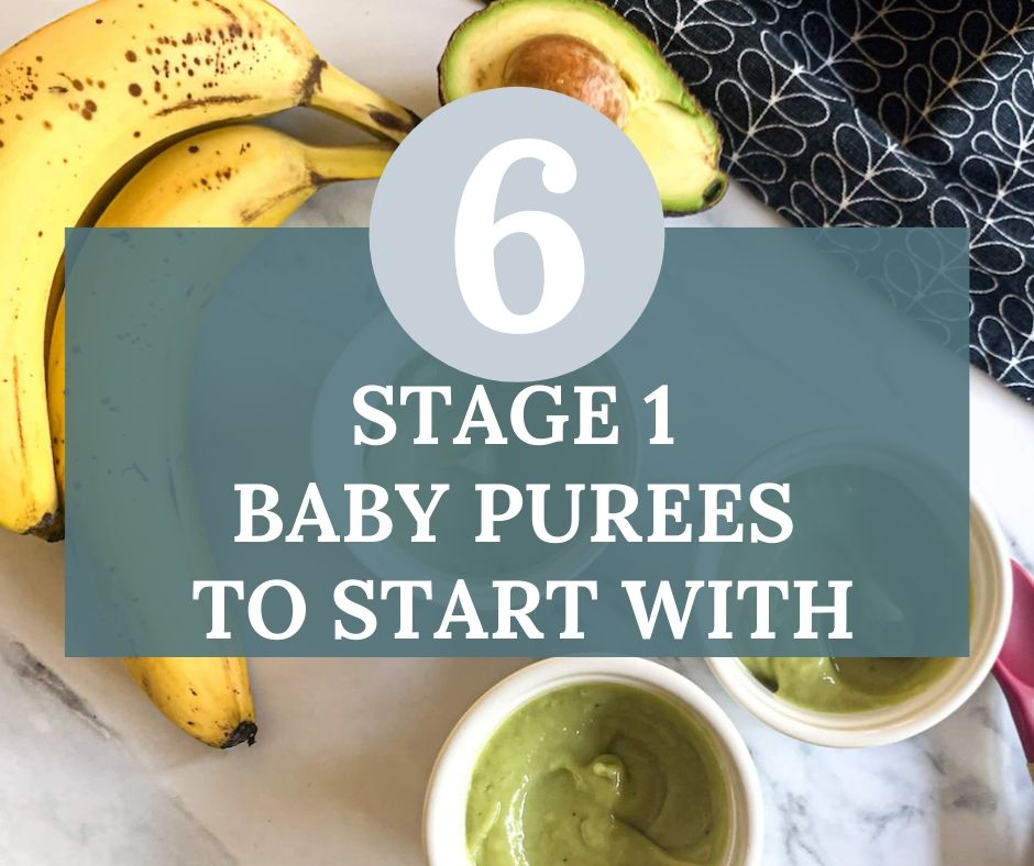 6 stage 1 Baby Purees