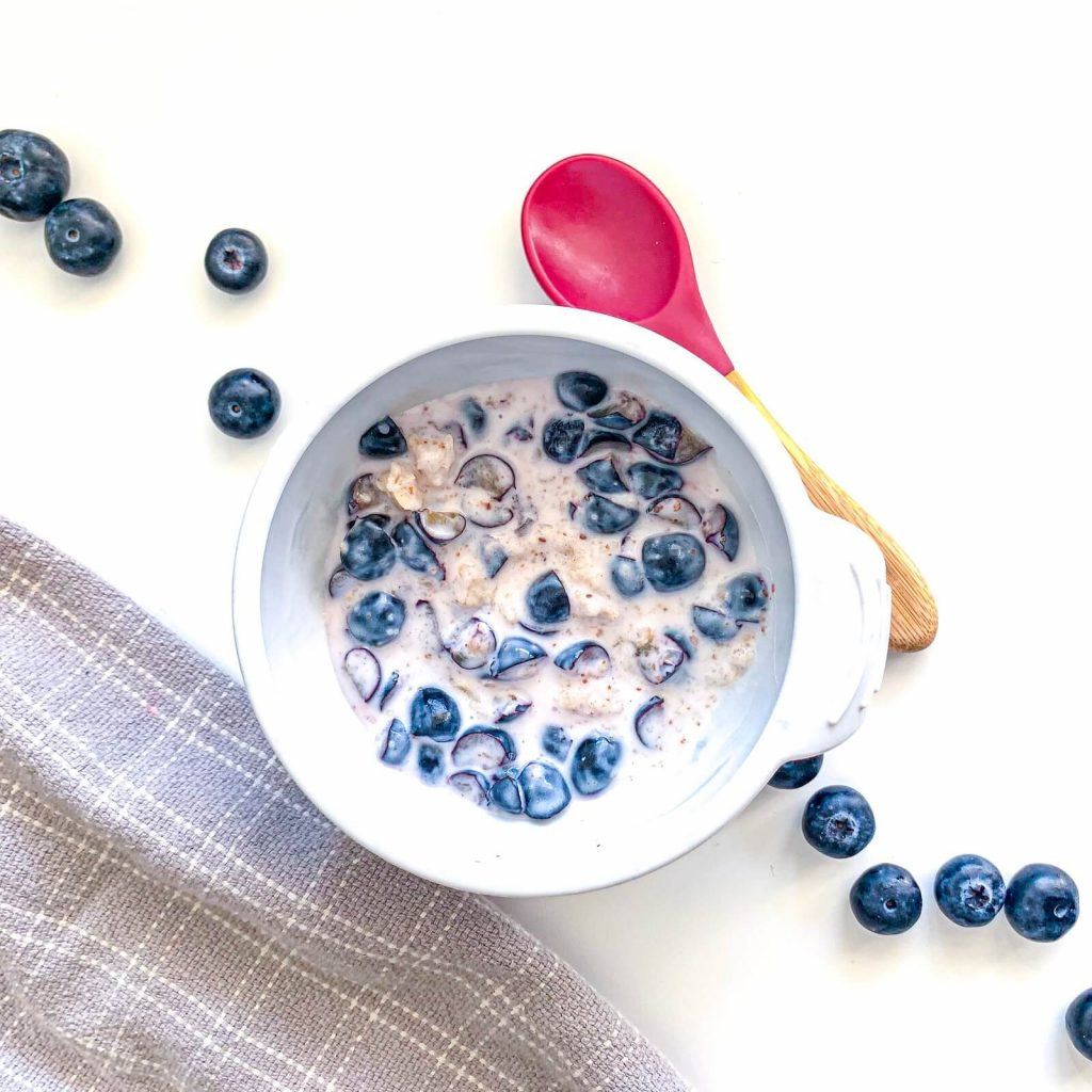 Blueberry Almond Oatmeal 2