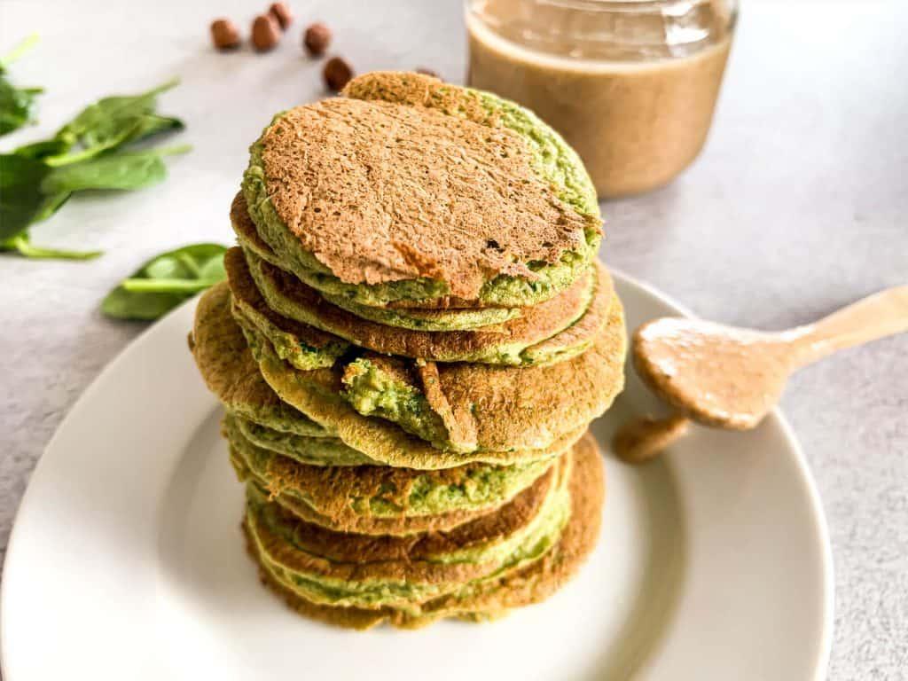 Banana Spinach Pancakes 2