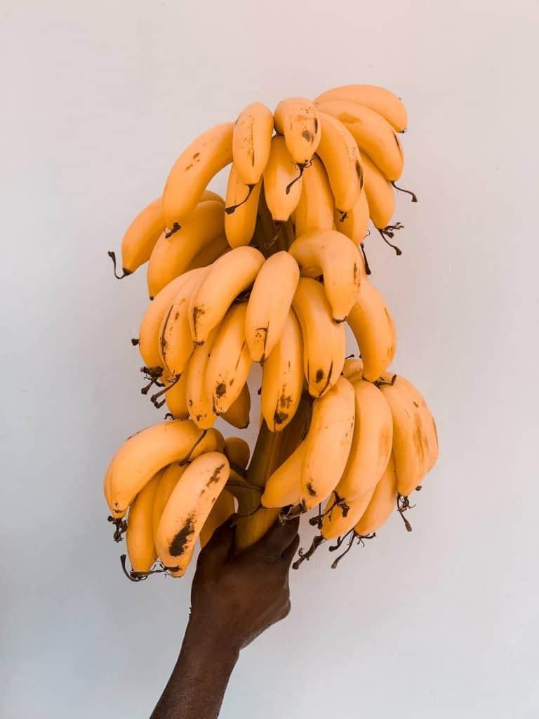 banana puree bananas on a stick