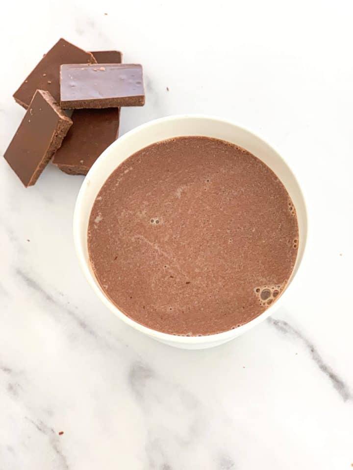homemade chocolate milk