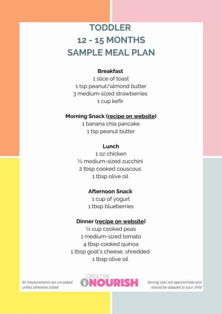 toddler meal plan 12-15 months