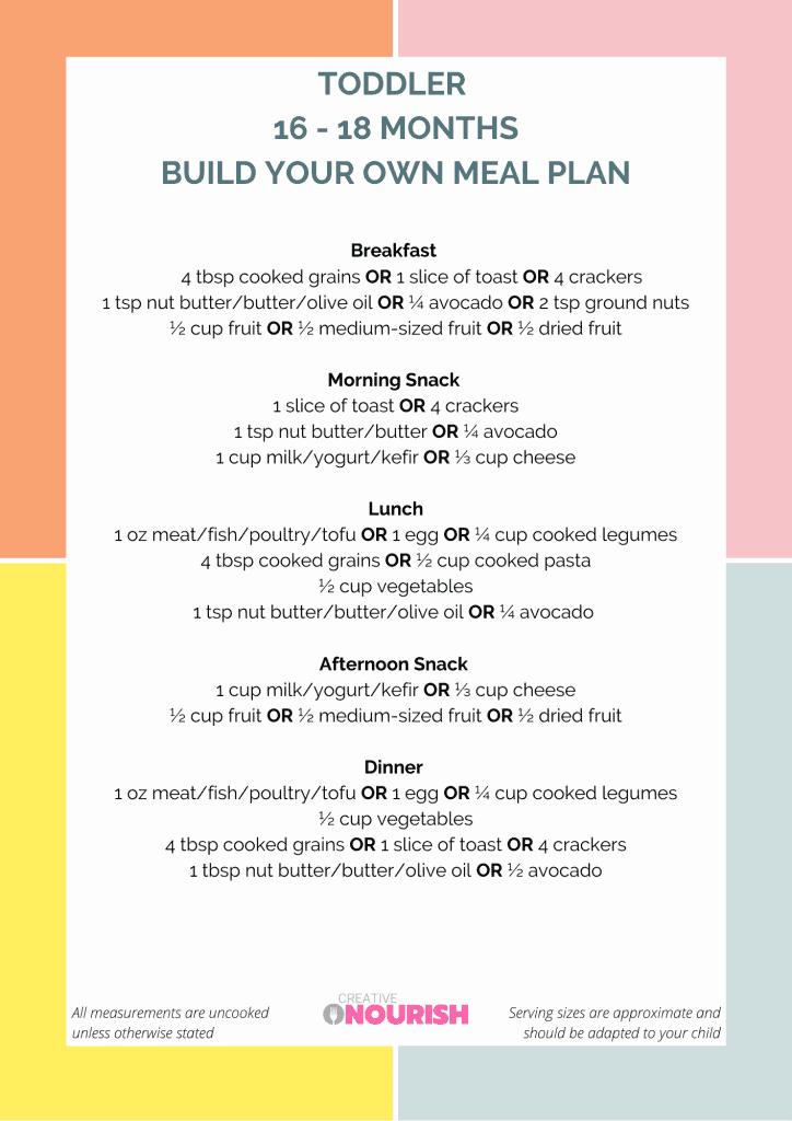toddler meal plans