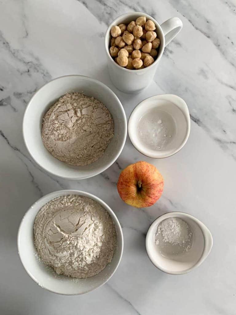 Blueberry Apple Hazelnut Muffins - dry ingredients