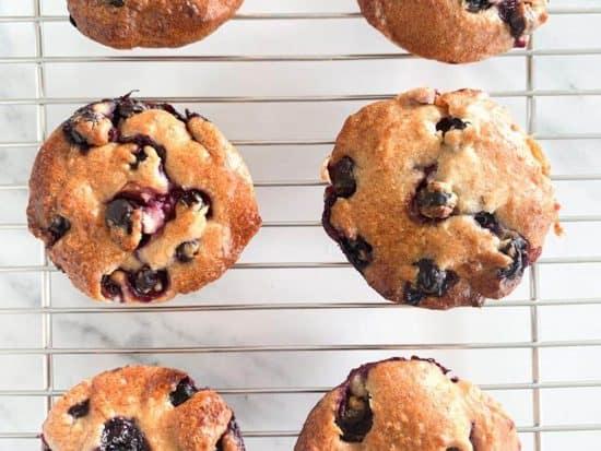 Apple Hazelnut Blueberry Muffins
