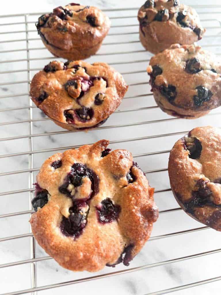 Blueberry Apple Hazelnut Muffins