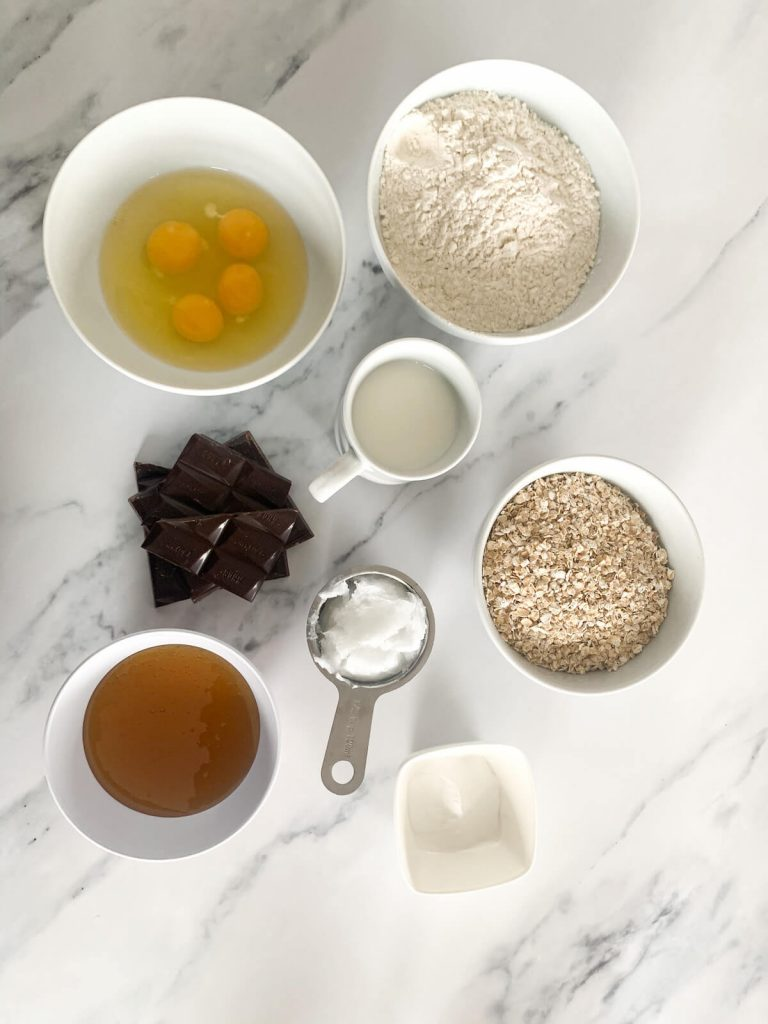 Ingredients for Chocolate Christmas Trees