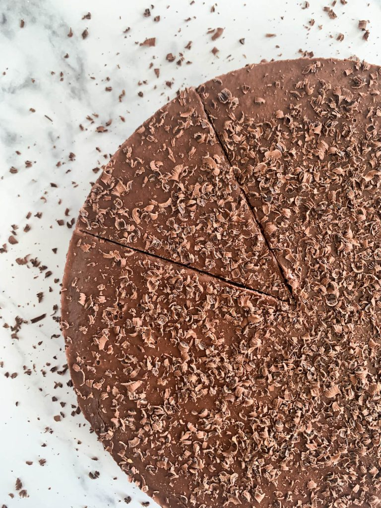 Easy Vegan Chocolate Cake with cut out
