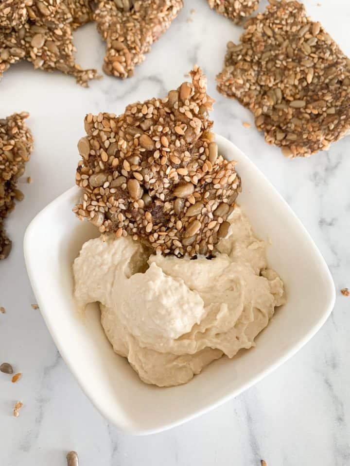 homemade sesame seed crackers