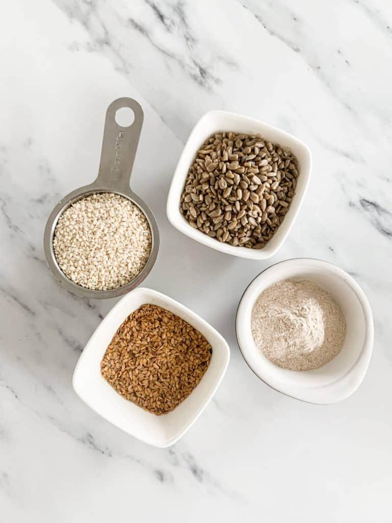 Homemade tear apart sesame seed crackers ingredients