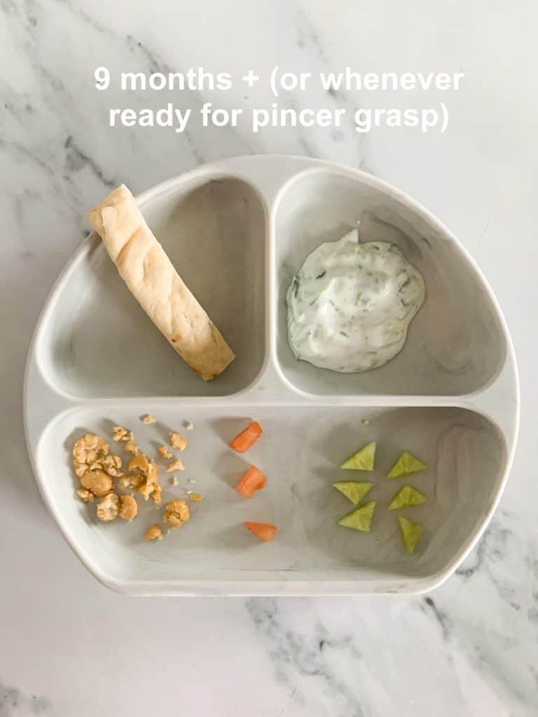 Vegetarian Crispy Roasted Chickpea Gyros pincer grasp option