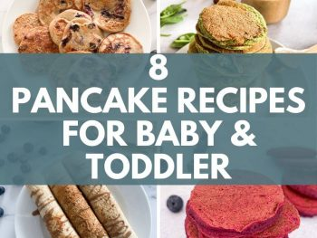 8 Pancake Recipes for Baby and Toddler featured blog image