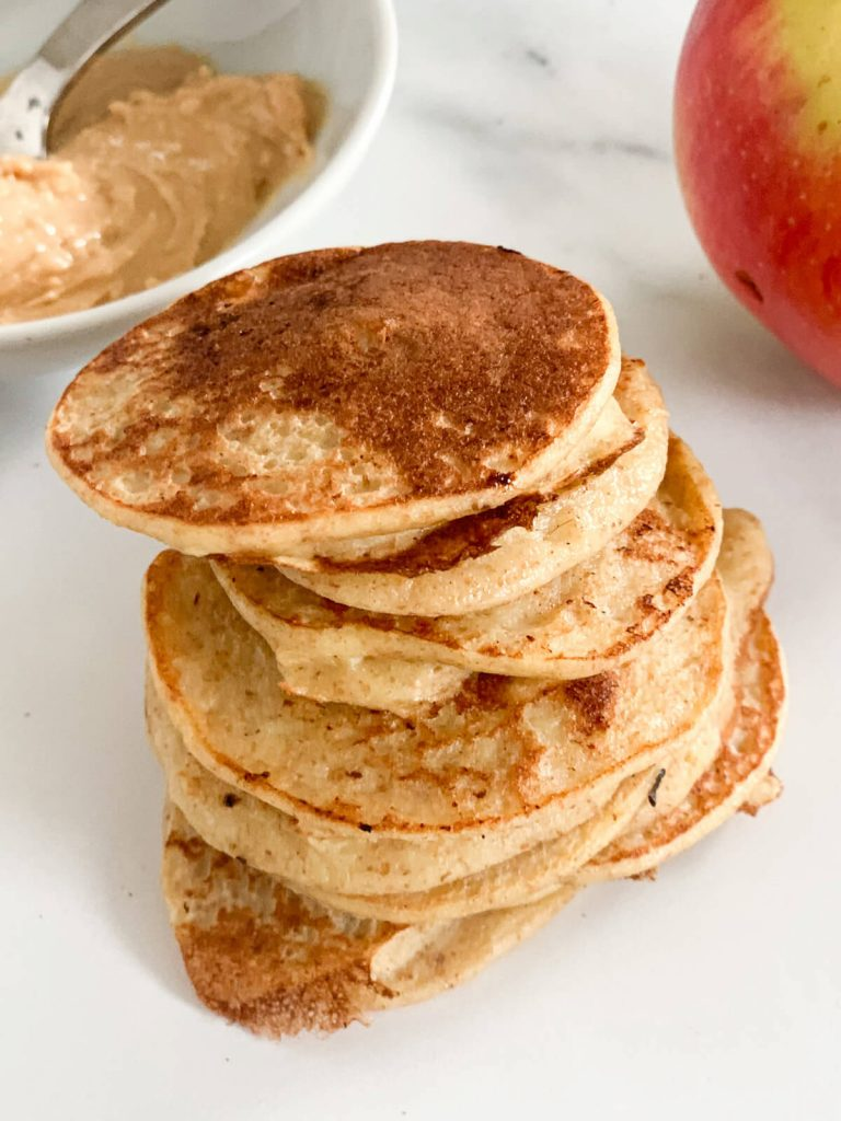 Apple Pancakes for baby-led weaning, toddlers and finger food