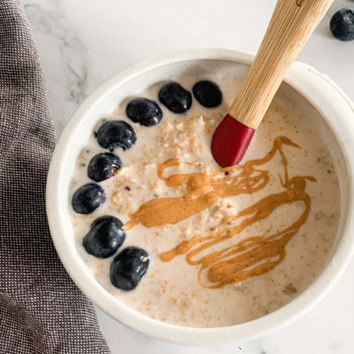 Peanut Butter Overnight Oats for baby and toddler