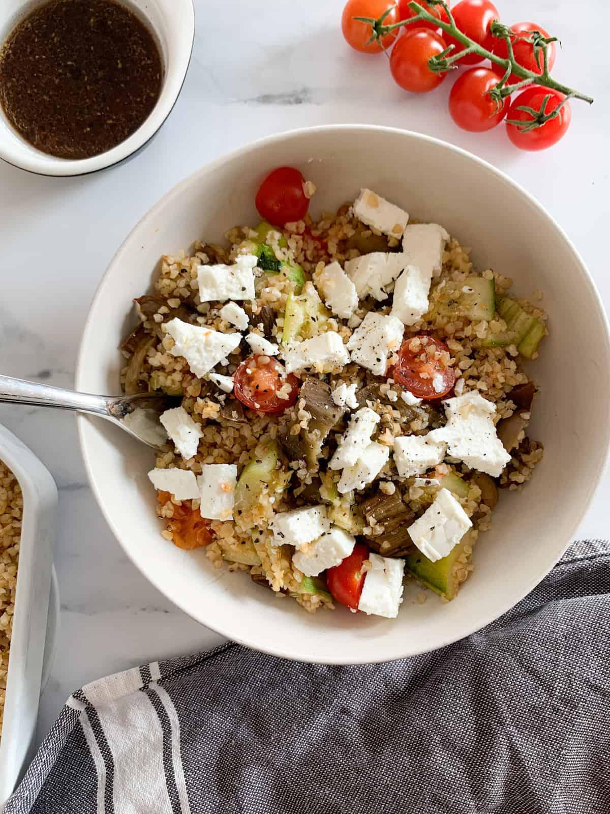 Salad bowl with feta