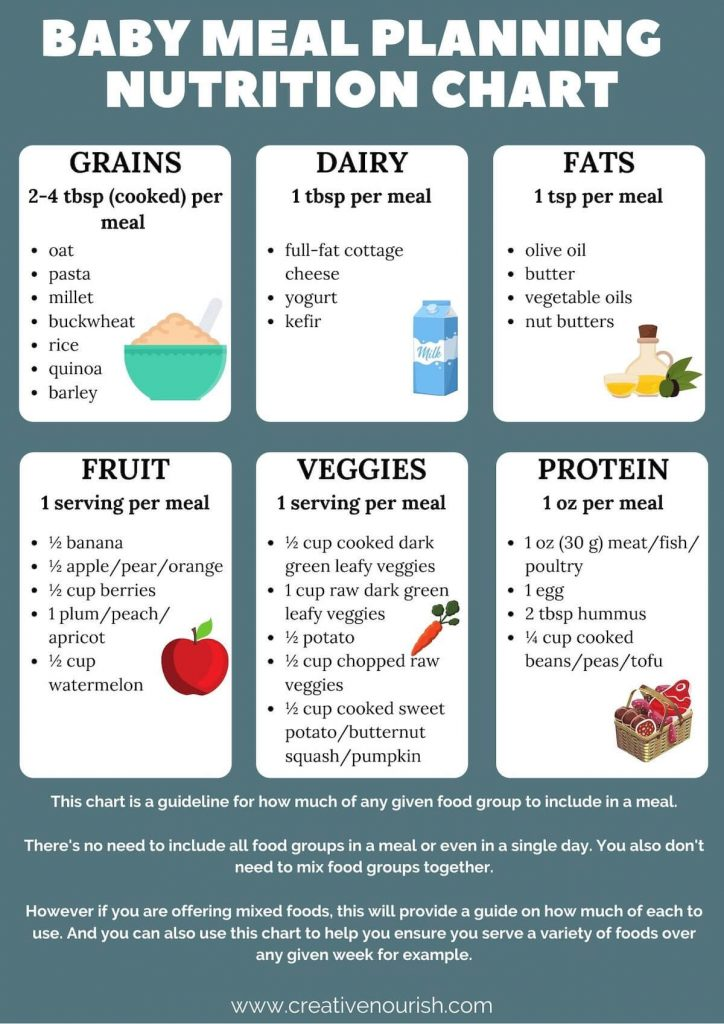 Baby Meal Plan Nutrition Chart