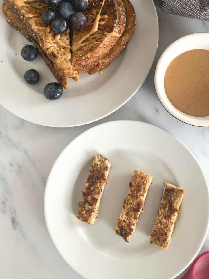 Healthy french toast sticks for baby-led weaning